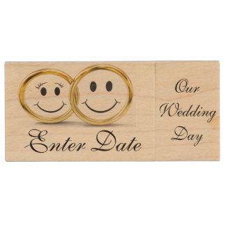 Wedding Day Save The Date Real wood Flash Drive Wood USB 2.0 Flash Drive