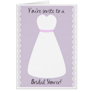 Wedding Dress Bridal Shower Invitation Greeting Card