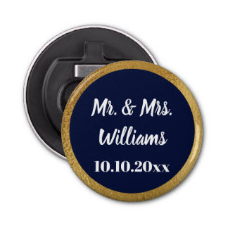 Wedding Engagement Party Favor Golf Faux Border Bottle Opener