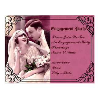 wedding,engagement party invitation postcard