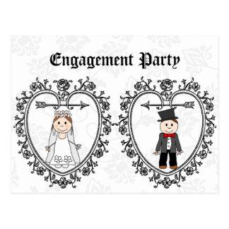 wedding,engagement party invitation postcard