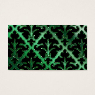 Wedding Event Planner Damask Emerald Green Sparkle