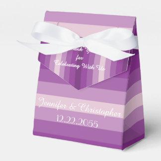 Wedding Favor Box, Purple Stripes Favour Box