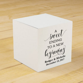 Wedding Favor Box - Sweet Ending to New Beginning Wedding Favour Box