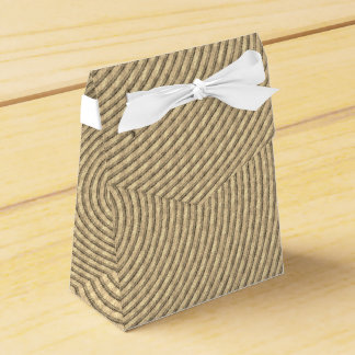 Wedding Favor Box w/ Ribbon Sepia Spiral Pattern Wedding Favour Box
