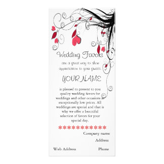 Wedding Favor Business Brochure Rack Cards