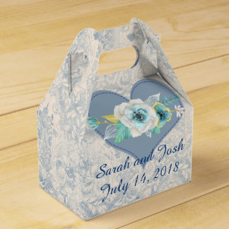Wedding Favor in Blue Favour Box