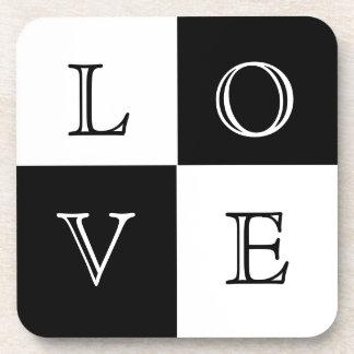 Wedding Favor Love Coaster Set