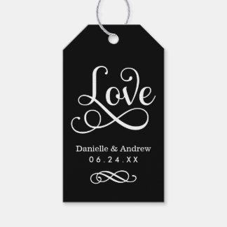Wedding Favor Tags | Love Script in Black