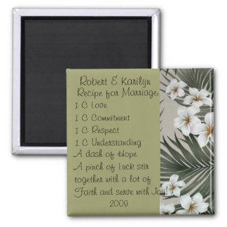 Wedding Favors Square Magnet