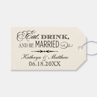 Wedding Favour Tags   Eat Drink and Be Married