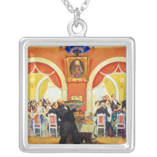Wedding Feast, 1917 Silver Plated Necklace