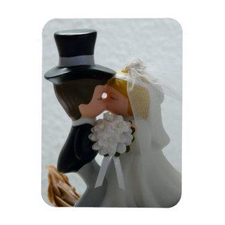 Wedding Figures Rectangular Photo Magnet
