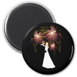 Wedding Fireworks 6 Cm Round Magnet