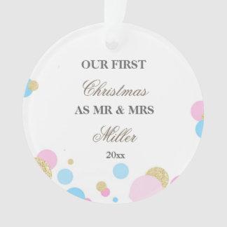 Wedding First Christmas Ornament Confetti