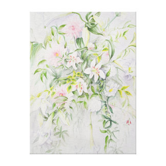 Wedding Flowers for Louisa and Robert Canvas Print