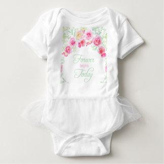 Wedding Forever Begins Today Baby Bodysuit