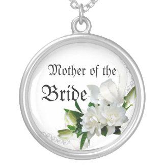 Wedding Gardenias Silver Plated Necklace