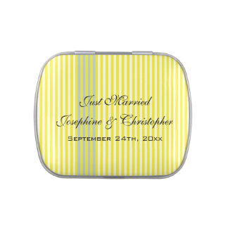 Wedding Gift with Yellow Stripes Jelly Belly Tin