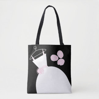 Wedding Gown Pink all over tote bag black