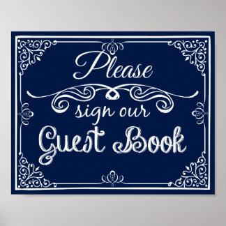 Wedding  guest book sign print