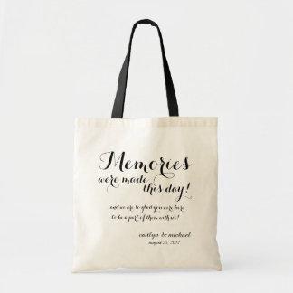 Wedding Guest Welcome: MEMORIES Tote Bag