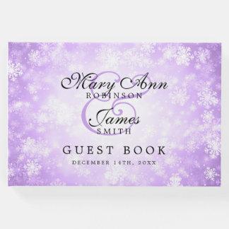 Wedding Guestbook Purple Winter Wonderland