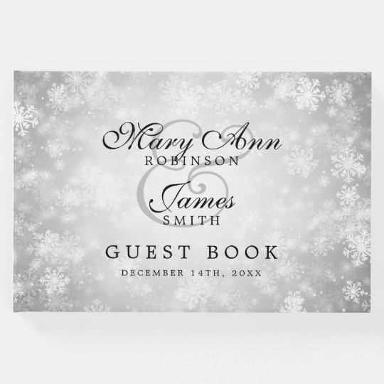 Wedding Guestbook Silver Winter Wonderland