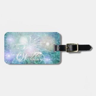 Wedding Honeymoon Luggage Tag w/ leather strap