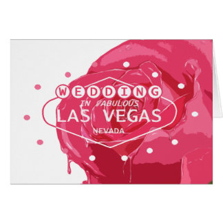 WEDDING IN FABULOUS LAS VEAS RED & PINK COLOR ROSE CARD