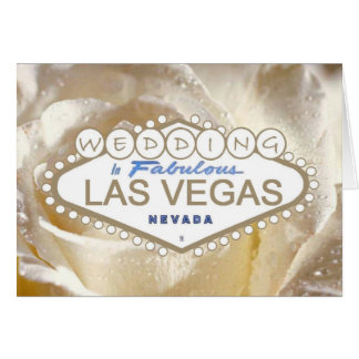 Wedding In Fabulous Las Vegas Announcement Card
