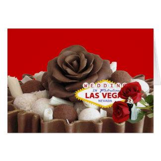 Wedding In Fabulous Las Vegas Bride & Groom Chocol Card
