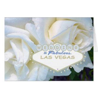 WEDDING In Fabulous Las Vegas Card White Rose