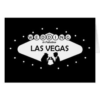 WEDDING In Fabulous Las Vegas Silhouette Card
