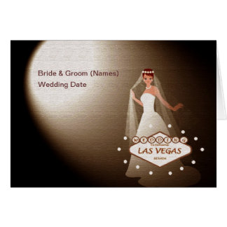 "Wedding In Fabulous Las Vegas ""Spotlight Bride""Car Card"