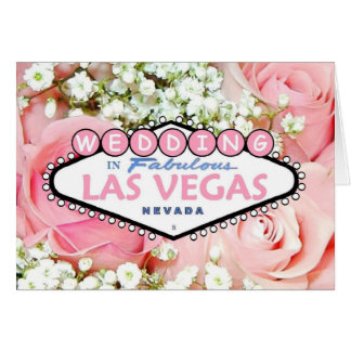 WEDDING In Fabulous Las Vegas Tiny Flowers Card