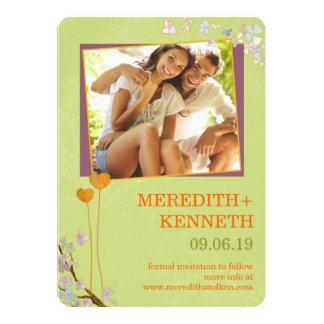 Wedding in Spring Garden Photo Save the Date 13 Cm X 18 Cm Invitation Card