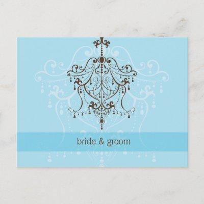 WEDDING INVITATION chandelier Post Card by edgeplus