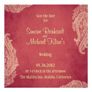 Wedding Invitation Indian Mehndi