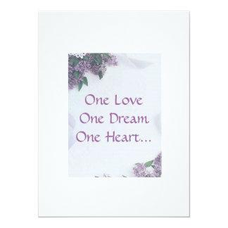 Wedding Invitation Lilacs And Love...