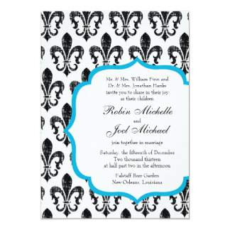 Wedding Invitation | New Orleans | Turquoise