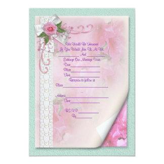 Wedding Invitation victorian rose