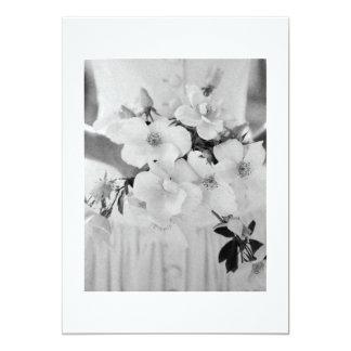 WEDDING INVITE BLACK / WHITE PHOTO BRIDE IN GOWN