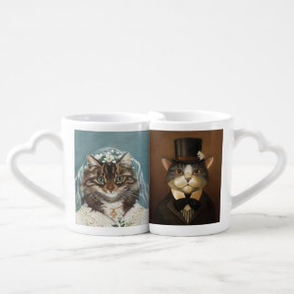 wedding,just married,newly weds,wedding couple coffee mug set