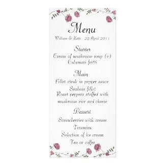 Wedding menu card rack cards