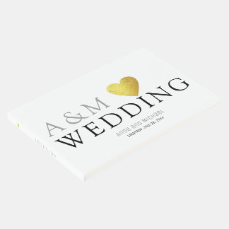wedding messages & signatures white guest book