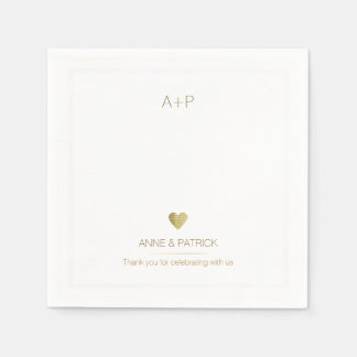 wedding minimalist reception party paper napkin