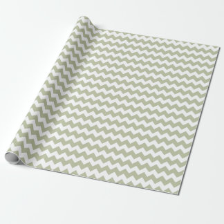 Wedding Mint Green White Zigzag Chevron Stripes Wrapping Paper