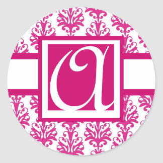 Wedding Monogram Elegant Sticker