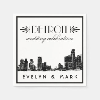Wedding Napkins | Detroit Wedding Celebration Disposable Serviettes